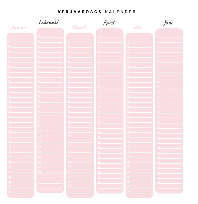 Flow Planners - Verjaardagskalender